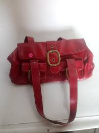banana republic red leather purse item