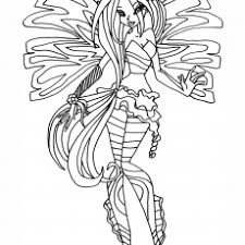 Beautiful Looking Winx Sirenix Coloring Pages Bloom Transformation