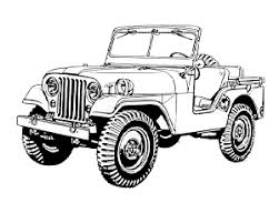 Jeep Wrangler Big Wheels Coloring Page 18 19 Class Jeep Jeep
