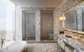 Marble  Polished Brass David Collins Three Bed Apartment At - Ritz carlton bathrooms