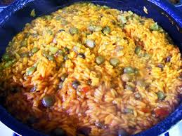 To make s ofrito, chop and toss together fresh tomatoes, peppers, onions, garlic and cilantro. Puerto Rican Cuisine Wikipedia