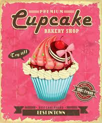 Cupcake Poster Design Vintage Cupcake Poster Design Stock Vector Donnay 34741809