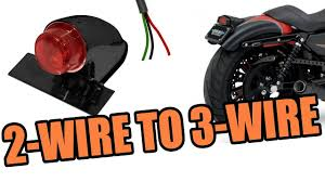 2 wire tailight to 3 wire motorcycle hd sportster