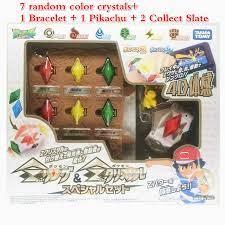 3 Styles TOMY Pokemon Action Figure Model Sun Moon Game Linkage 4D  Somatosensory Z Bracelet Z Crystal Kids Christmas Gift Toys|Action Figures