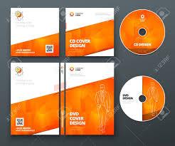 Cd Envelope Dvd Case Design Orange Corporate Business Template
