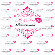 pink lips wedding step and repeat banner wedding backdrop Wedding Banner Custom Wedding Banner Custom #40 custom wedding banner