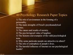 psychology research paper topics 3 40 psychology research paper topics