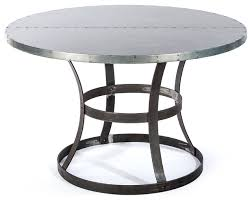 the francesca round zinc top dining table kingston krafts inside with design 5