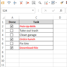 to do lists excel how to create a todo list in excel with checkboxes conditional