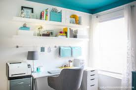 colorful home office. need design ideas for your home office this cozy and colorful space fuels creativity with