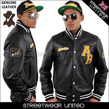 aviatrix college baseball genuine leather jacket black streetwear united welcome to your for finest hip hop urban clothing