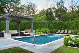 40 Outstanding Traditional Swimming Pool Designs For Any Backyard Gorgeous Backyard Swimming Pool Design