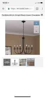 portfolio 26 5 in 6 light black linear chandelier item 423822 model fd12 048 for in wilton ct offerup