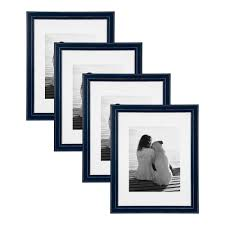 kieva 11x14 matted to 8x10 navy blue picture frame set of 4