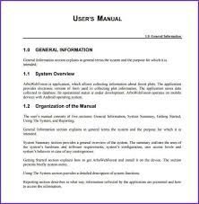 user manual template sample procedure manual template free office procedures manual