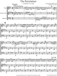 bassoon sheet music the entertainer flute clarinet bassoon sheet music by scott
