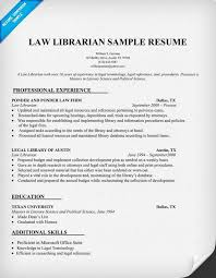 Sample Academic Librarian Resume Law Librarian Resume Sample httpresumecompanion Resume 46