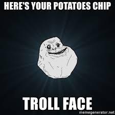 potato face troll. Unique Potato And Potato Face Troll E