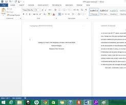 Formatting Apa Style In Microsoft Word 2013 Apa Essay Apa