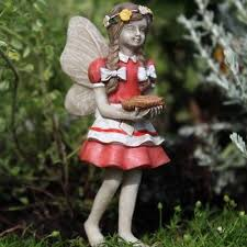 fairy garden fun fairy alice bringing pie miniature dollhouse thanksgiving new