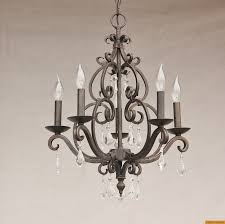 3530 5 spanish style mini chandelier with crystals