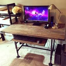 diy rustic desk steel pipes pine decided that i would build a new desk diy rustic office desk