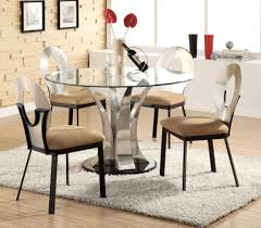 trendy best glass round dining table set contemporary parabellum round glass dining room table modern