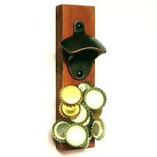 petite magnetic bottle cap catcher f1645319 wall mounted bottle opener with magnetic cap catcher diy gorgeous magnetic