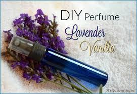 diy perfume with lavender vanilla essential oils