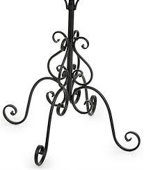 Iron Coat Rack Stand Simple Wrought Iron Coat Rack 32Tier Stand With 32 Hooks