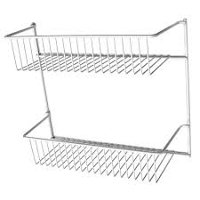 details about closetmaid 12 in 2 tier white kitchen storage rack cabinet door wall organizer