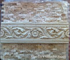 Diy Tile Backsplash Kitchen Split Face Travertine Tile Backsplash The Diy Village