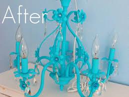 shabby chic blue chandelier