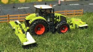 bruder toys tractors with claas disc mower kids learn farm toys