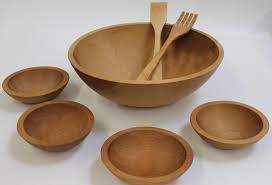 17 inch beech bowl set bee s oil finish