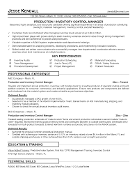 Inventory Specialist Job Description Resume Free Resume Example