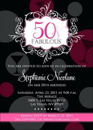 50th birthday invitation templates birday wording sles template