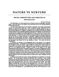 nature vs nurture essay nature side nature and nurture debate genes or environment explorable com