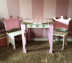 childrens table and chair set tea party kids chairs playhouse kid storage crown in aimees