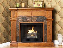 image of corner gel fuel fireplace