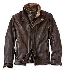 Orvis Mens Romano Leather Jacket 44 Dark Brown At Amazon