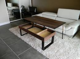 adjule height coffee table with storage