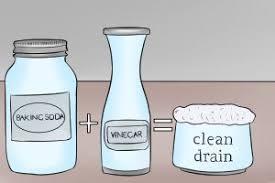 unclog a drain baking soda