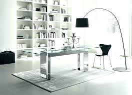 glass office furniture. Glass For Desk White Office Furniture Enchanting Contemporary Modern Chair Mats B
