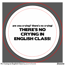 Image result for no crying in english sign