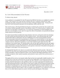 Best Letter Of Recommendation For Medical School Jake Wiersema Letter Of Recommendation Medical School