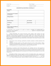 Roofing Contract Form. Residential Roofing Contract Contract Date ...