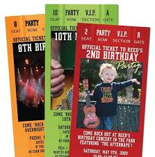 Party Ticket Invitations Simple 48 Concert TICKET Party Invitations For Adult By PaisleyPrintsEtc