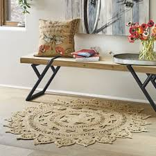 jute 4 round rug from country door ni758001 throughout plans 7