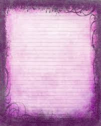 Lined Stationery Paper Printable Journal Page Instant Download Purple Digital Stationery 10